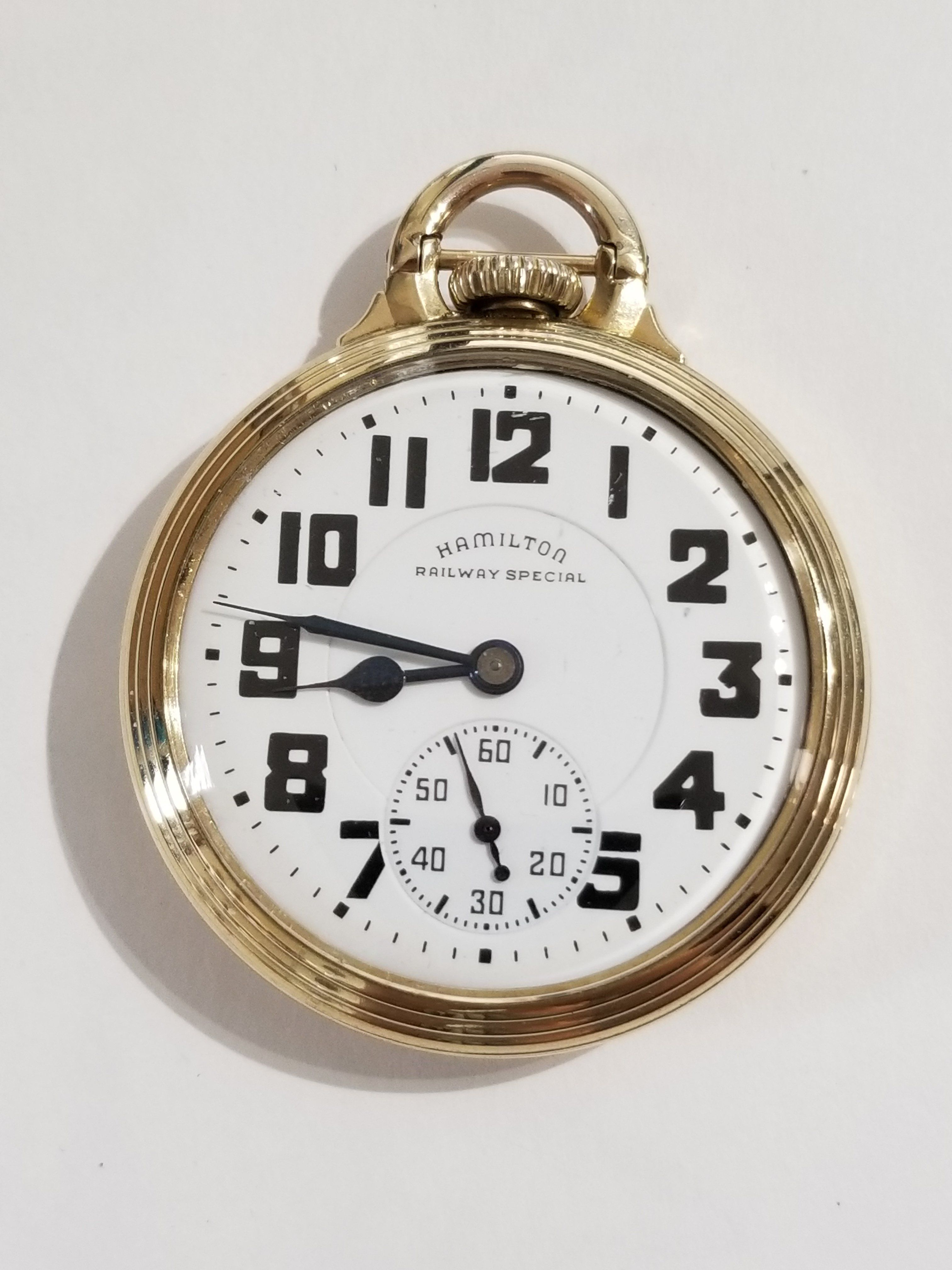 Antique 16s Ball Waltham Official Railroad Standard 19 Jewel Pocket Watch Pocket Watches