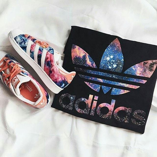 Adidas matching top and shoes