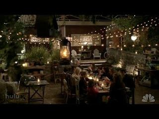 The Braverman Backyard Messy Relaxed Perfect Parenthood Tv Show Backyard Dining Backyard Dining Set
