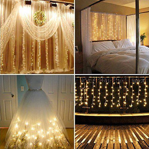 Neretva Led Light Window Curtain Icicle Lights 304led Linkable Warm