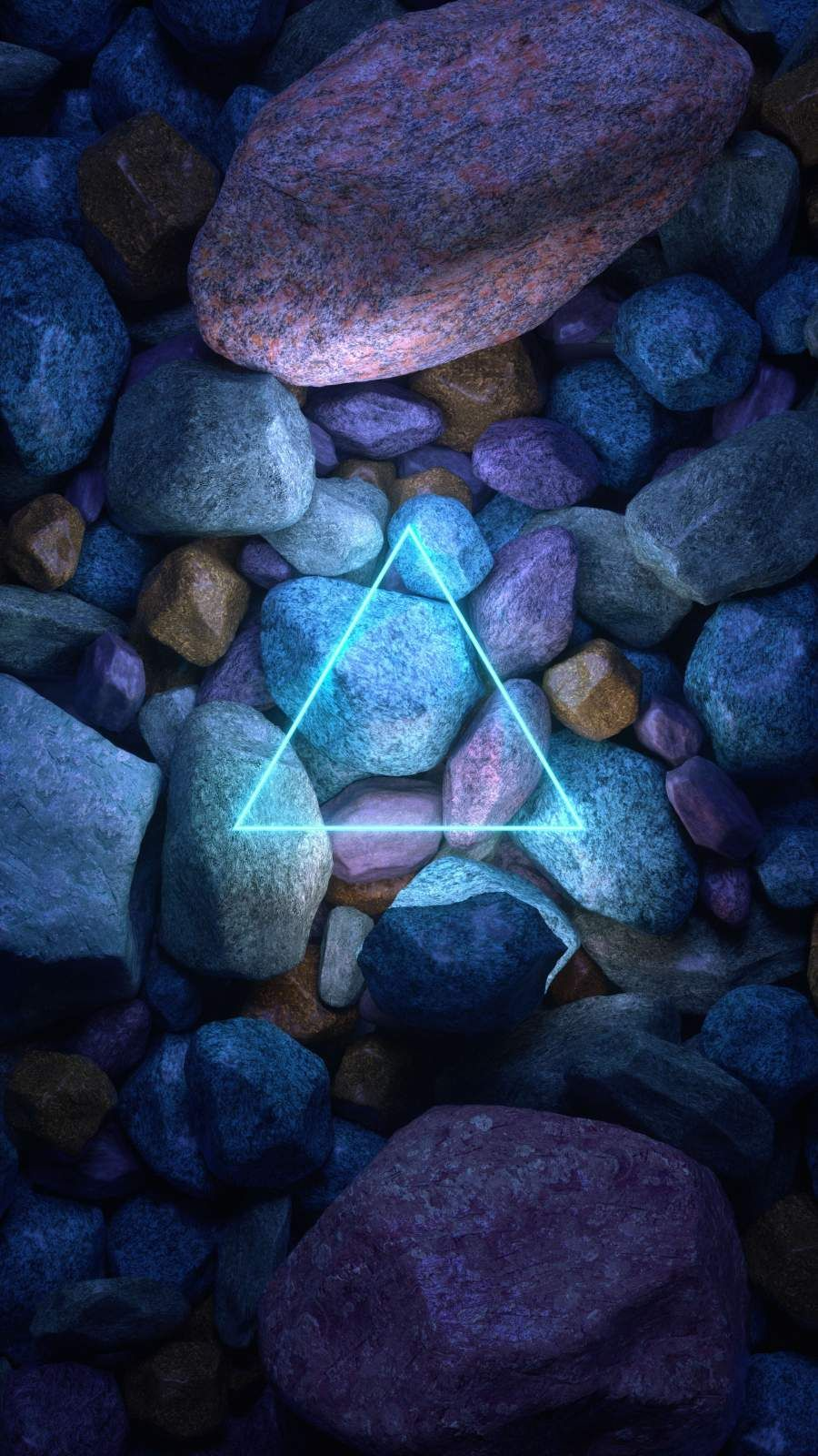 Neon Stone Triangle iPhone Wallpaper - iPhone Wallpapers