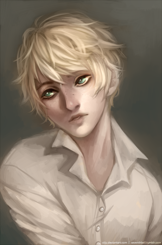 blond hair portraits androgynous