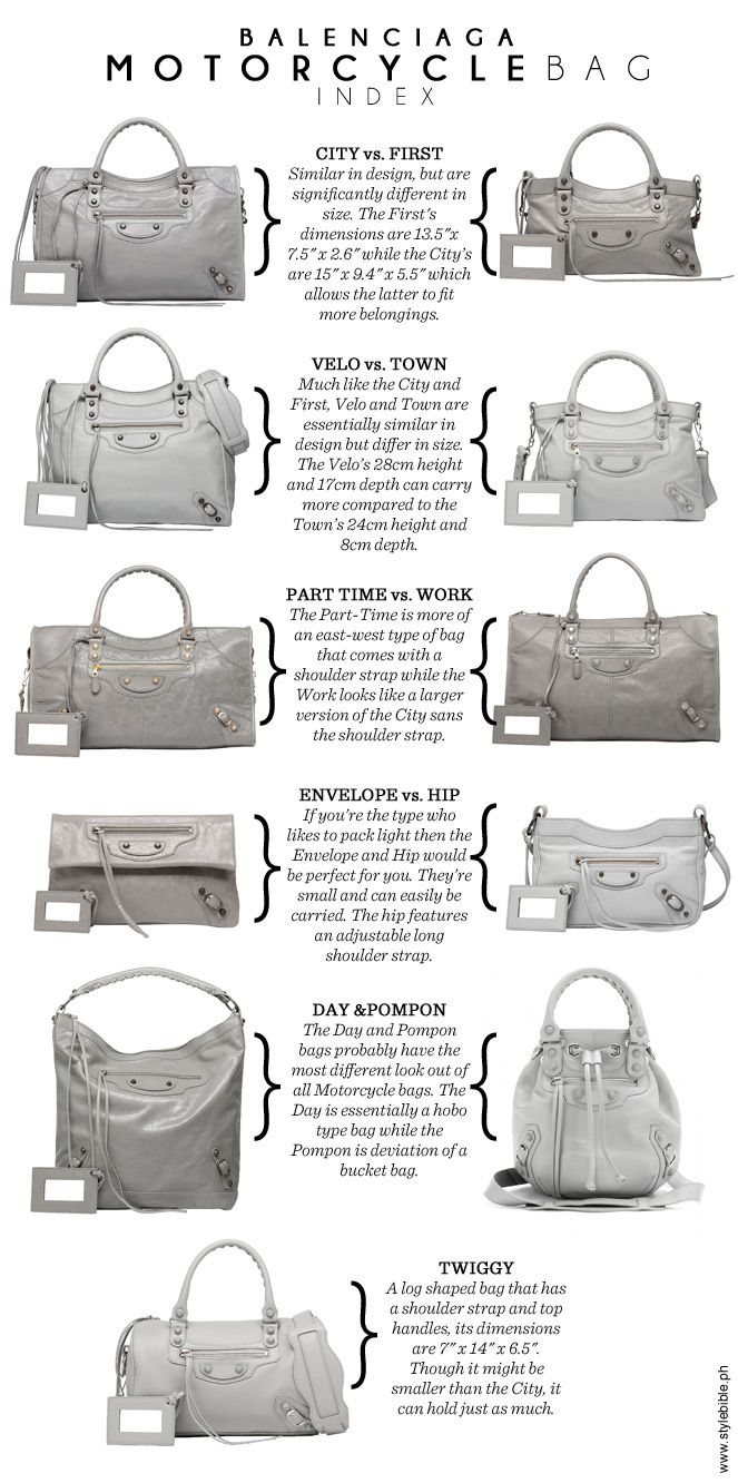 c5804c8aa1 Get to know 11 different styles from its famed Motorcycle line. Bolso  Balenciaga, Balenciaga