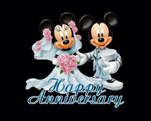 Disney Anniversary Happy First Wedding Anniversary Happy Anniversary Wishes Anniversary Greetings