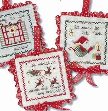 Christmas Ornaments - Twas The Night Ornaments II - Cross Stitch Pattern