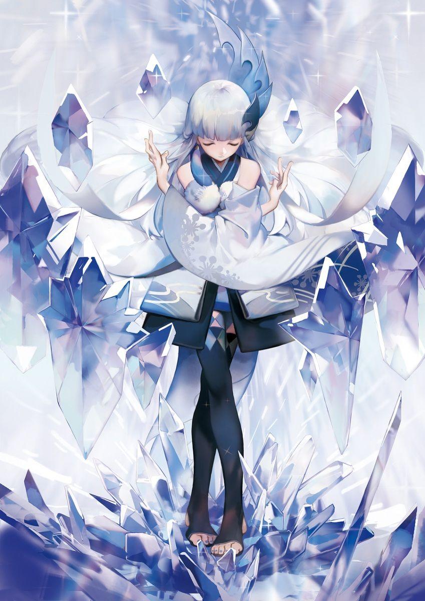 Anime/Game Onmyoji Character Yuki Onna Pixiv's artist