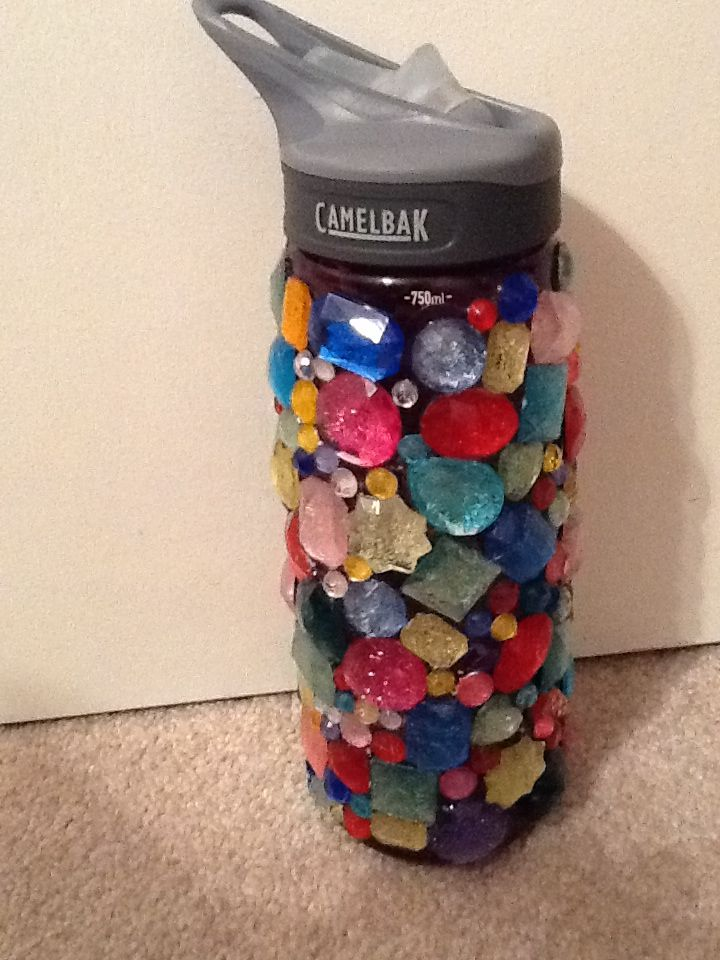 Personalize your reusable bottle with decals, permanent markers, jewels, or a carabiner. If it's left behind or if someone else has the same bottle, you'll know it's yours.