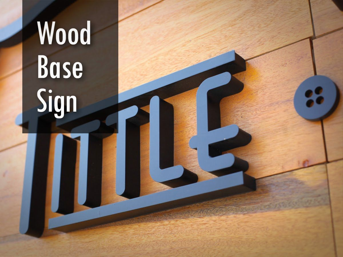 wood base sign wooden background signboard wooden signage 3d box
