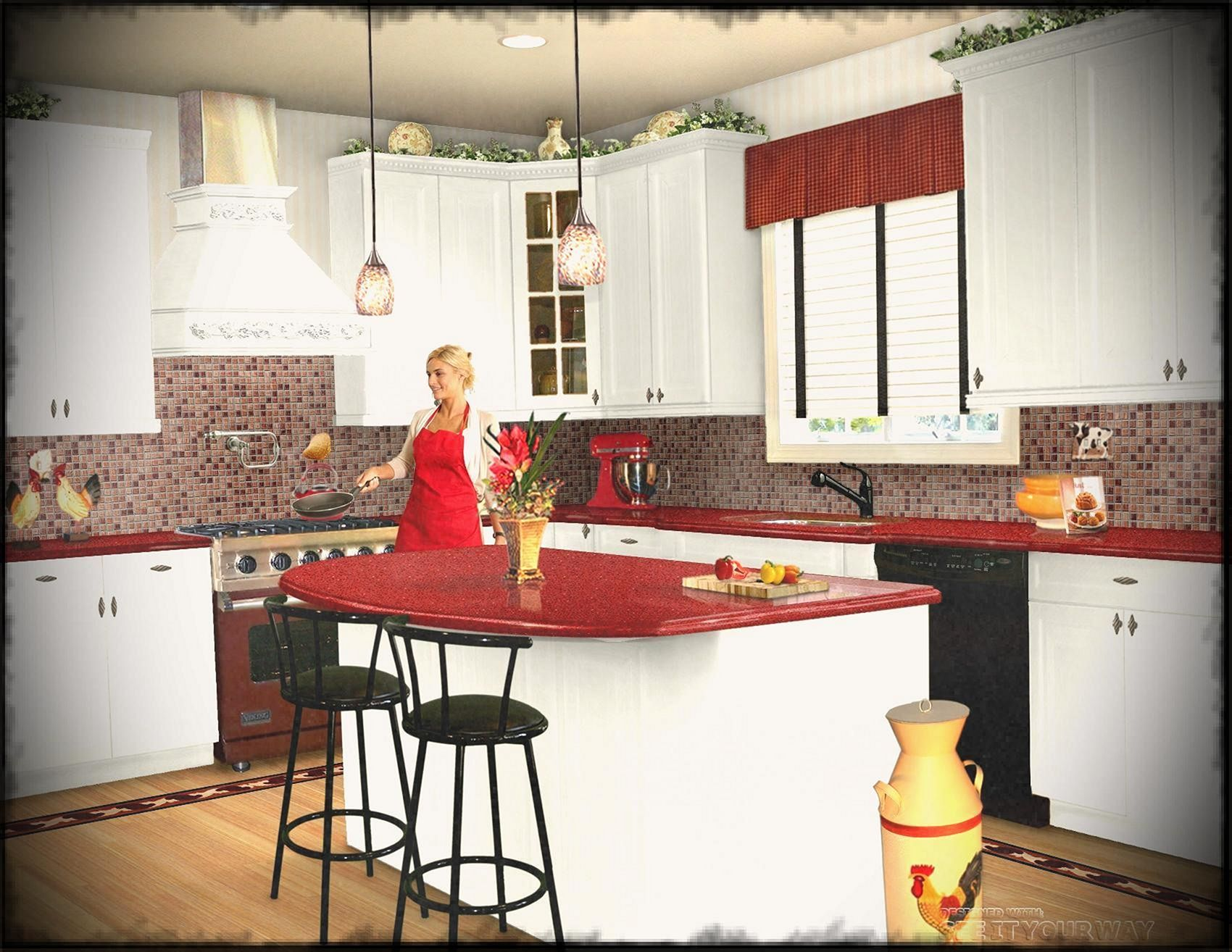Breathtaking 20 Incredible Christmas Red Kitchen Wall Color Design Ideas Https Usdecorating Com Red Kitchen Walls Modern Kitchen Design Kitchen Wall Colors