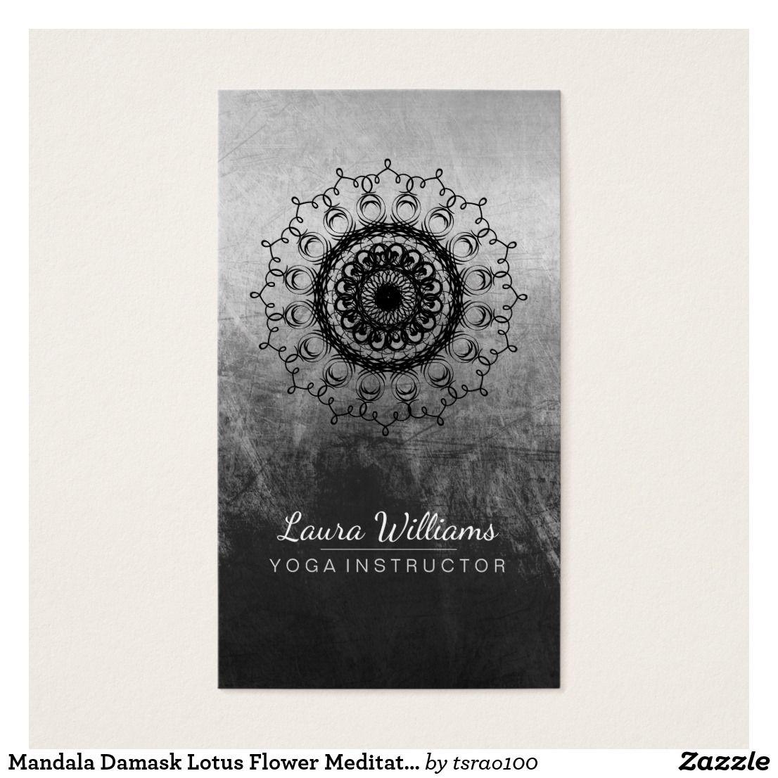 Mandala Damask Lotus Flower Meditation Black White | Damask Mandala ...