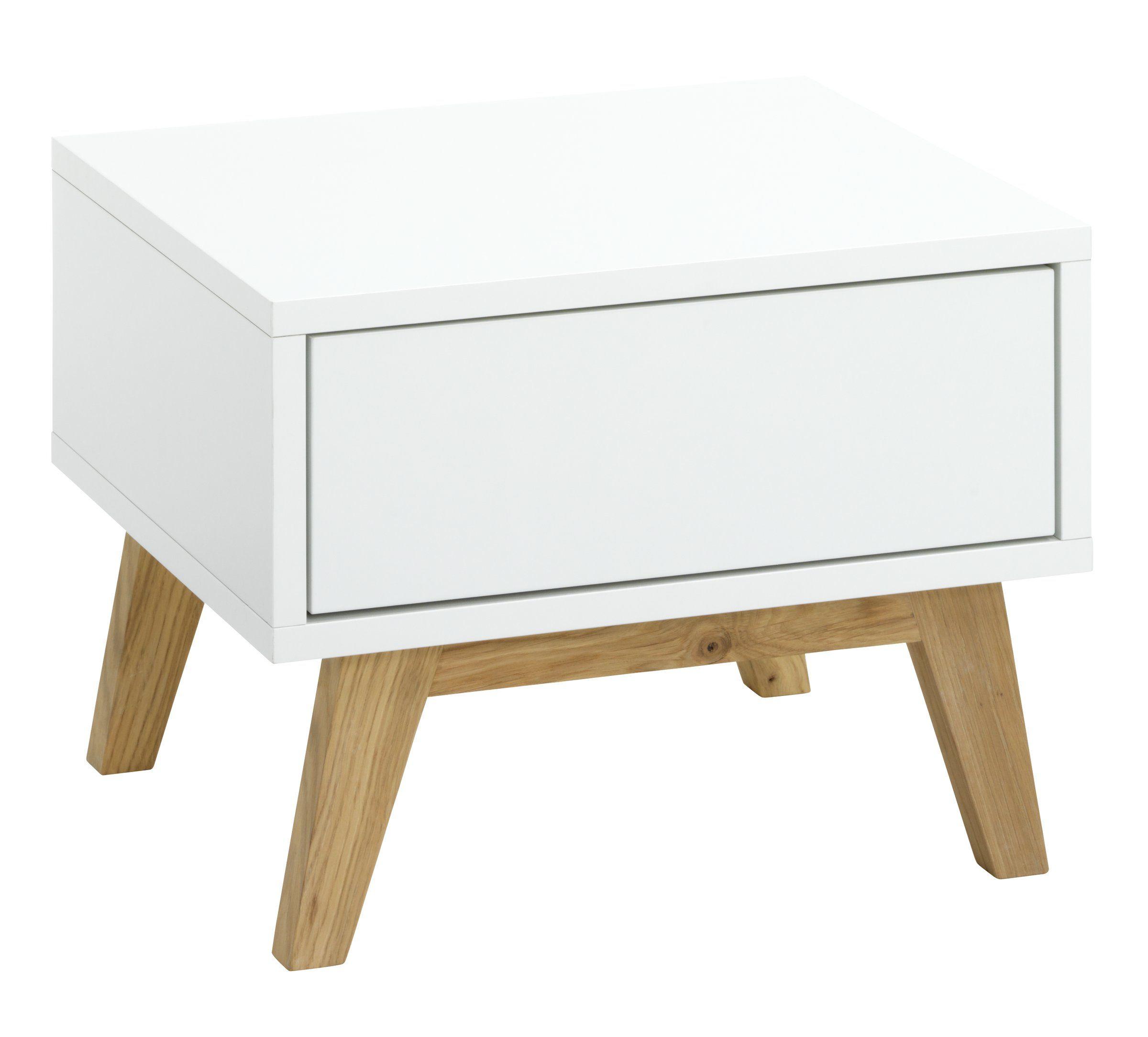 nachttisch maillard 1 schublade spanplatte weiss lackiert. Black Bedroom Furniture Sets. Home Design Ideas