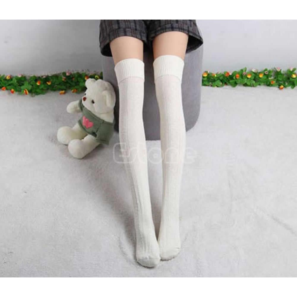 Free Shipping Women Winter Warm High Knee Leg Warmers Knit Crochet Boot Socks Slouch