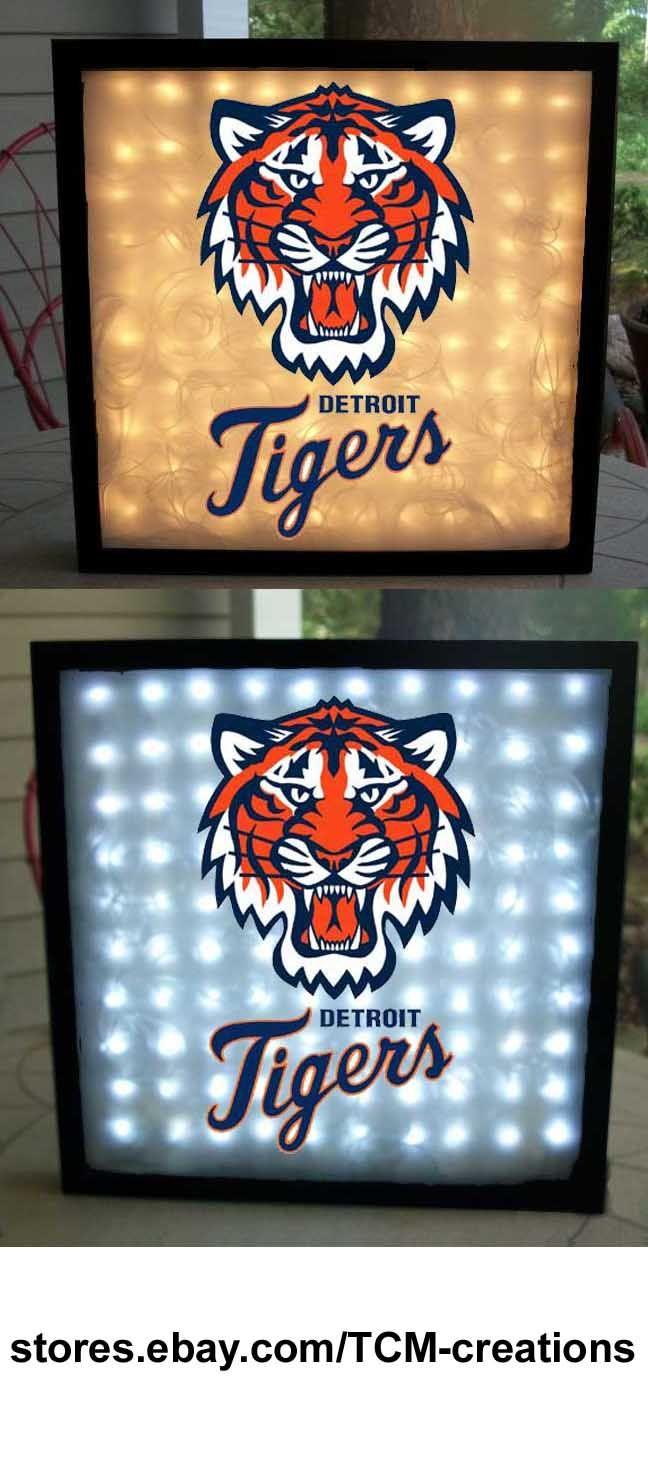 MLB Major League Baseball Detroit Tigers shadow boxes with LED lighting