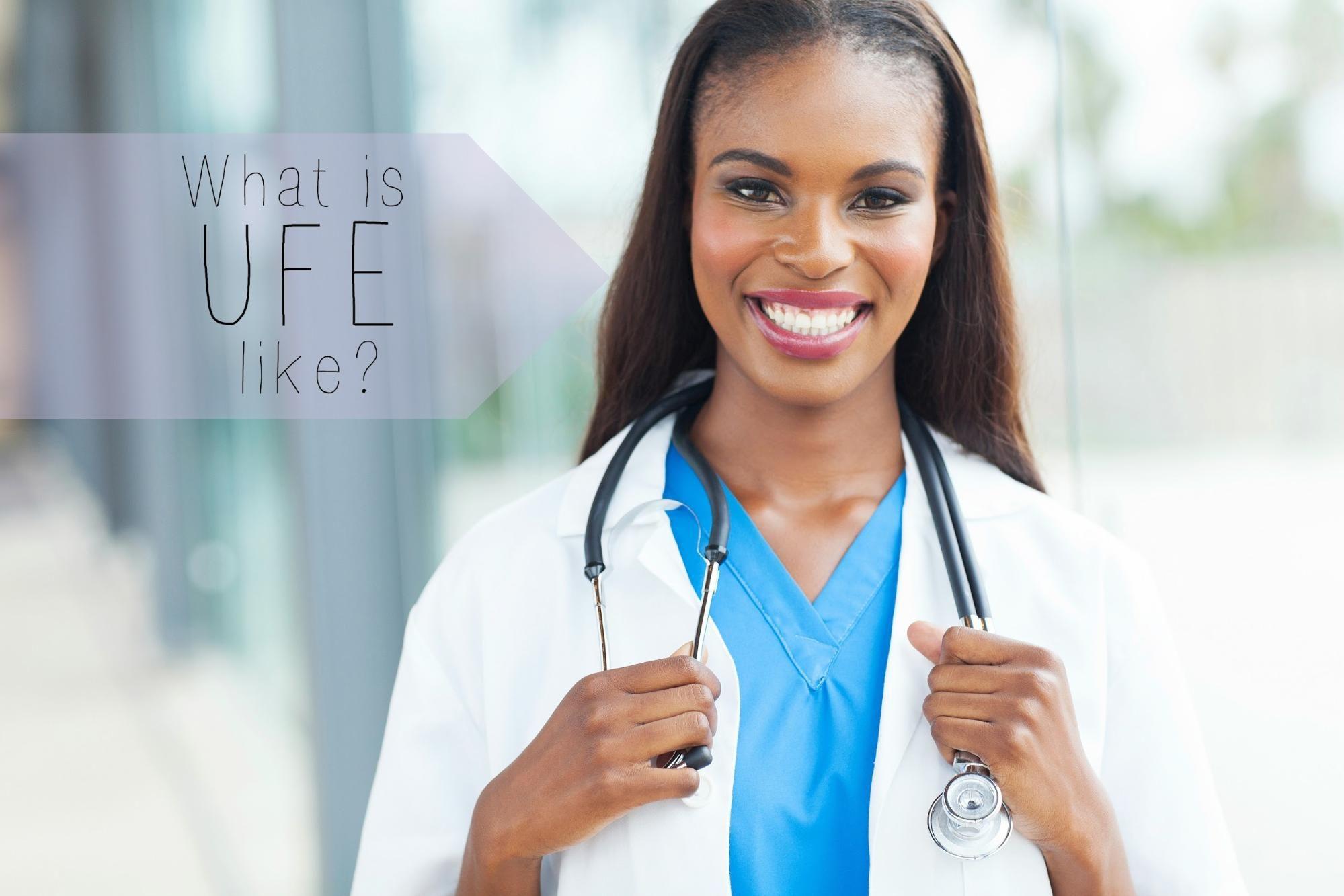 What is the uterine fibroid embolization procedure like