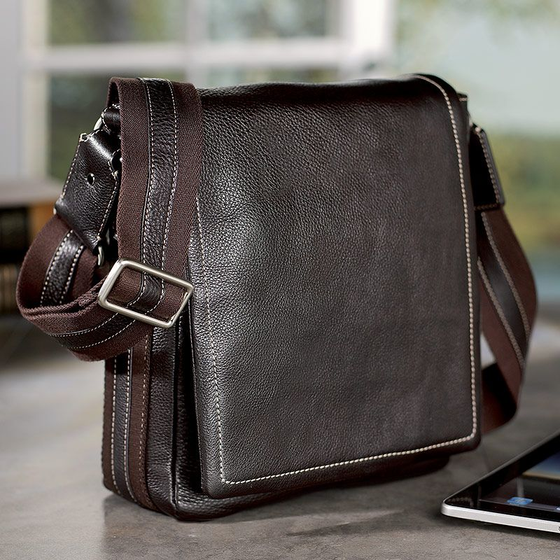 Man Purse xD// Bomber Jacket Day Pack Messenger - Briefcase, tech-friendly, ipad friendly - Levenger