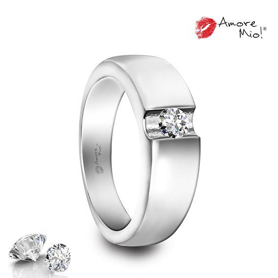 Anillo de oro Blanco 14Kt SKU: WG1430059 Diamante Round 0.40 quilates. Color-F, Claridad VS2 Laboratorio-GIA(EC), SKU Diamante: 27897, Precio: $42,878.88 pesos M.N *Consulte términos y condiciones.