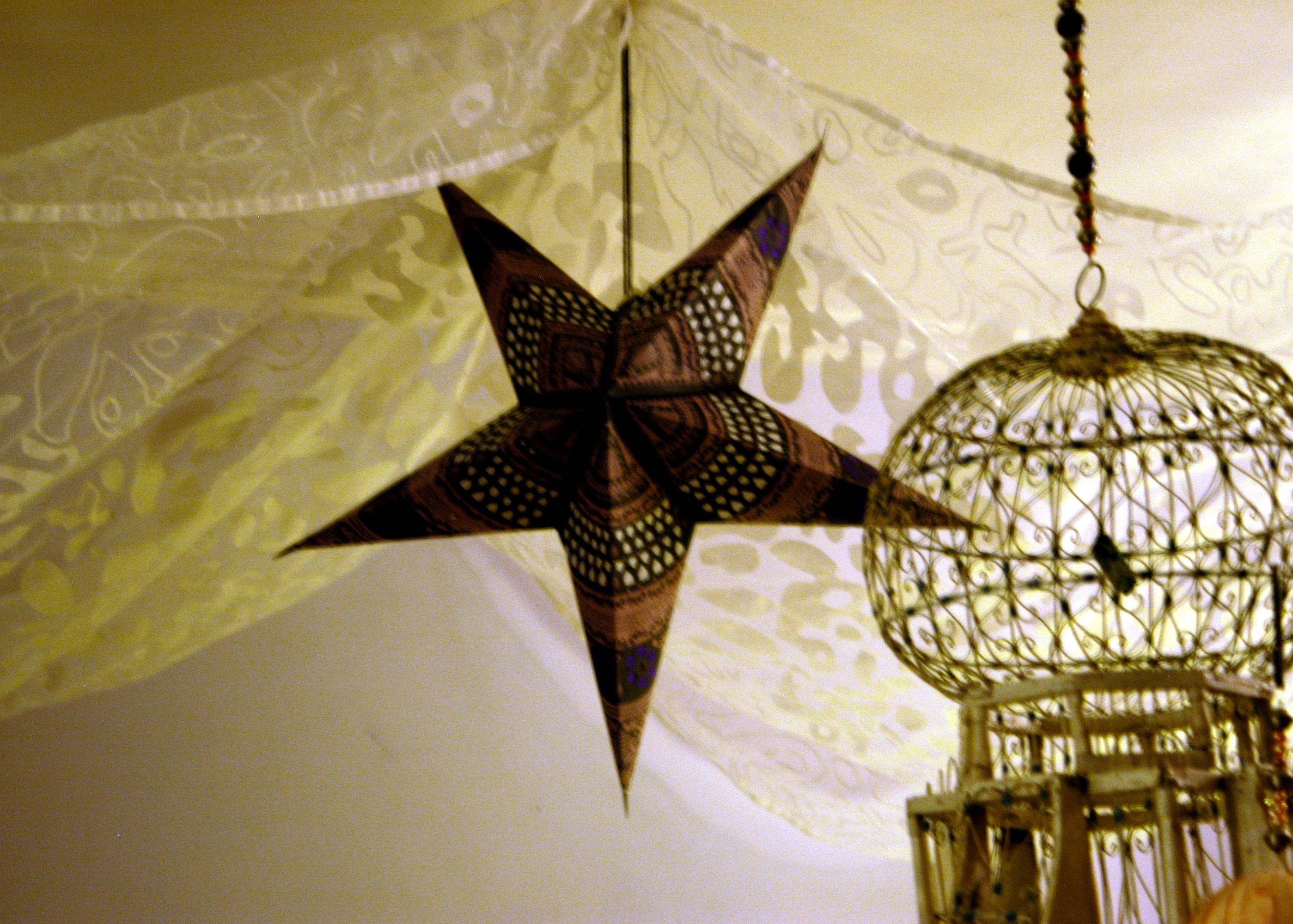Another cardboard star from Ikea´s christmas collection