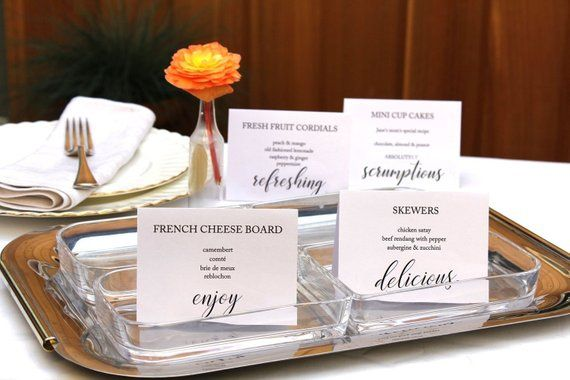 printable party buffet food signs editable wedding food. Black Bedroom Furniture Sets. Home Design Ideas