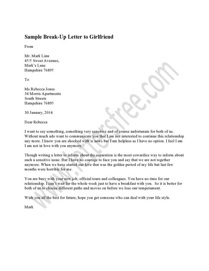 Images About Sample Break Letter  Funny Guys Breakup