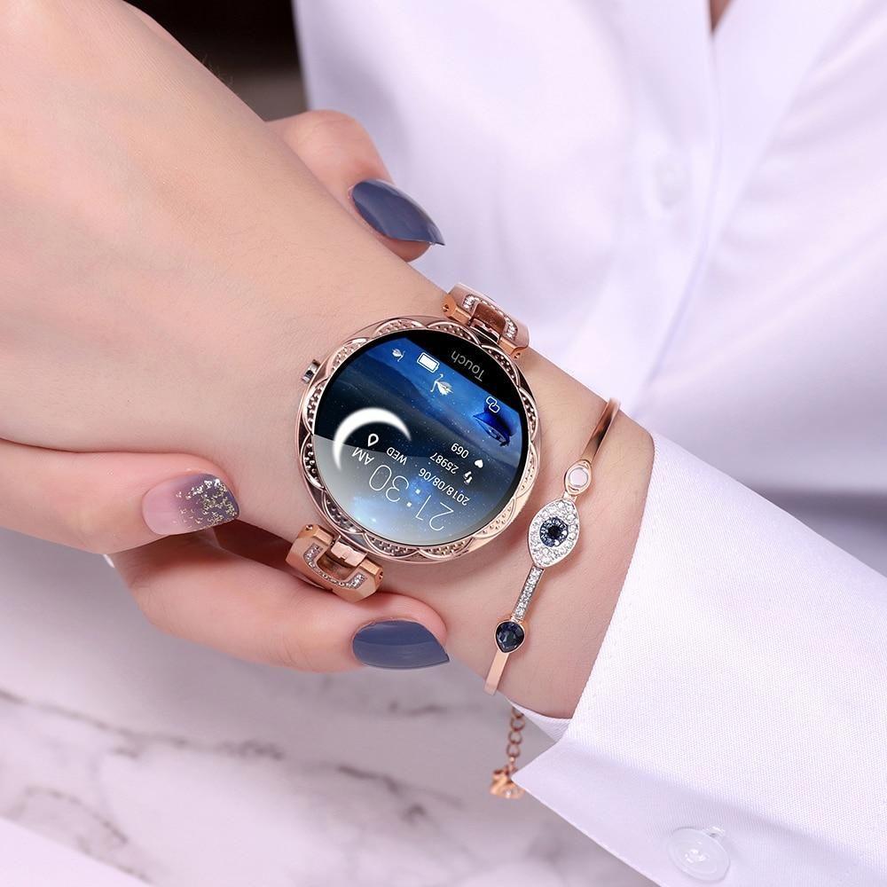 Women S Fashion Smart Fitness Watch In 2020 Smartwatch Women Wearable Device Smart Watch