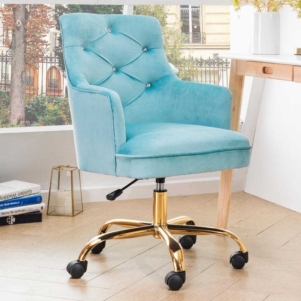 Home in 2020 Cute desk chair, Velvet office chair