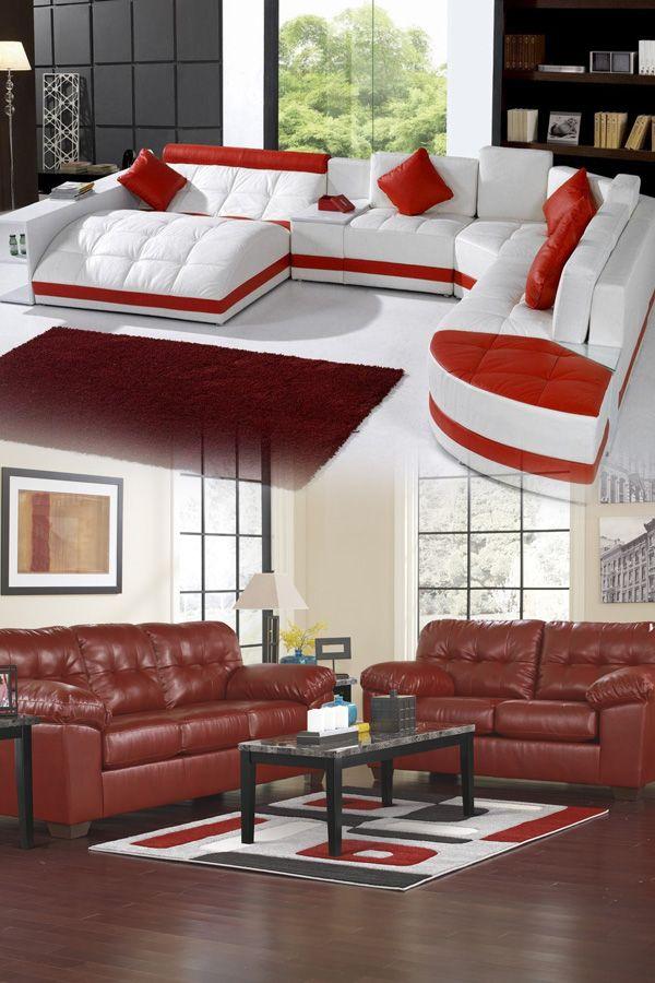 Vig Furniture 5021 Modern Bonded Leather Sectional Sofa ...