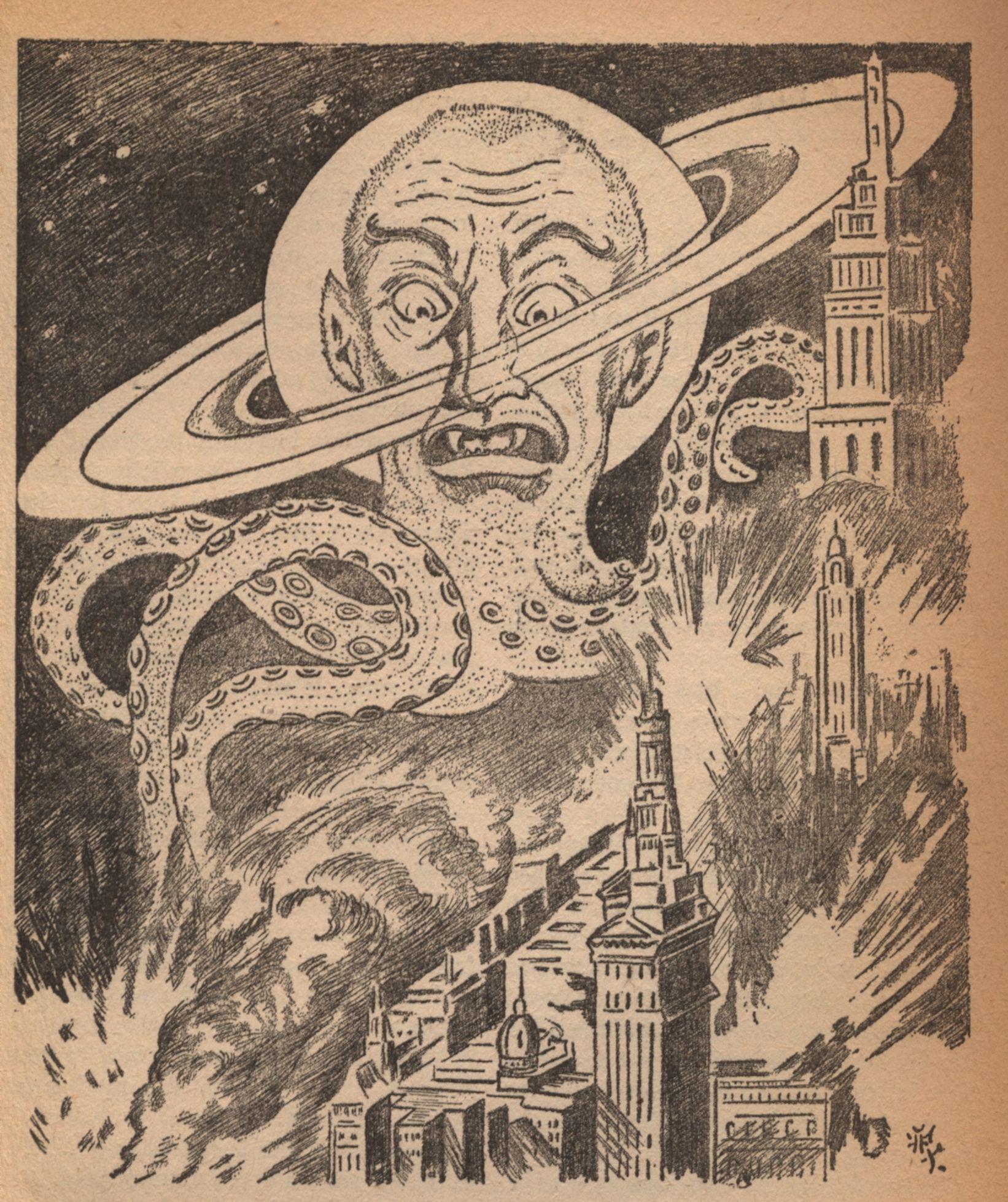 Art From Weird Tales - July, 1942