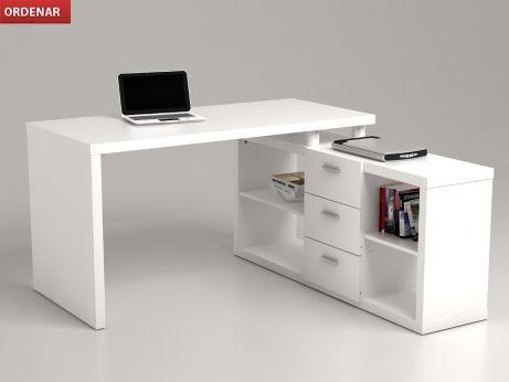 En casa ® Bureau Bureau eckschreibtisch Angle Combinaison étagère table de PC