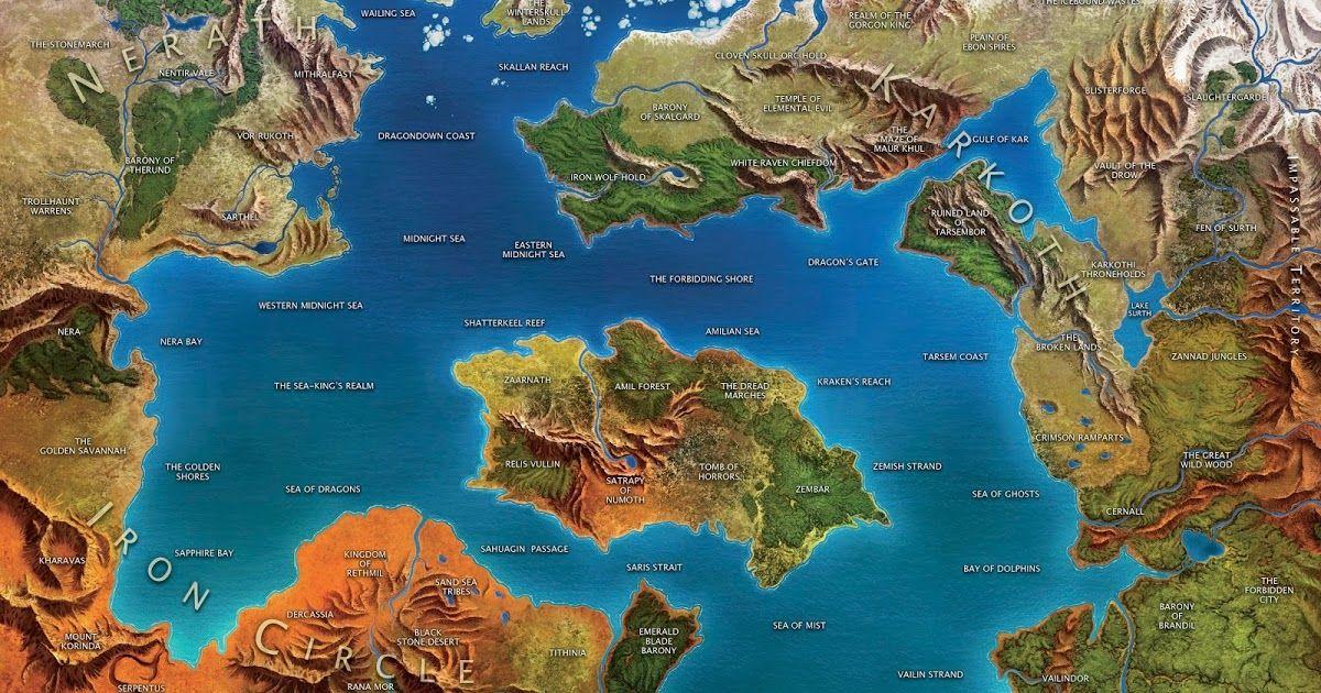 Картинки по запросу d&d nerath world map   Картинки, Персы