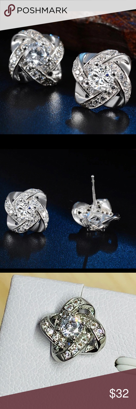 Pandora Jewelry 60 Off Visit Sterling Silver Cz Stud Earrings New Material Sterli Fashion Earrings Pandora Jewelry Charms Pandora Jewelry Bracelets