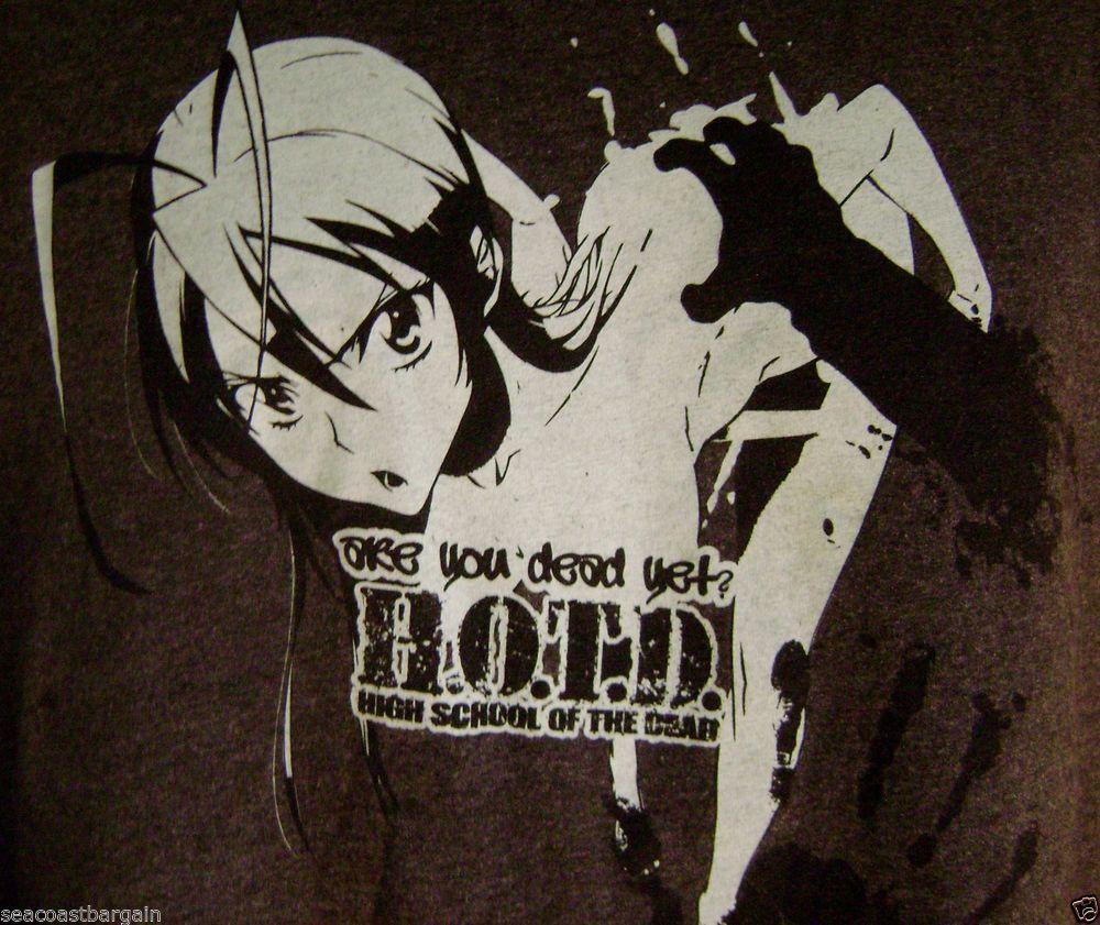 High School of the Dead Yet TShirt XXL Anime Zombie Japan