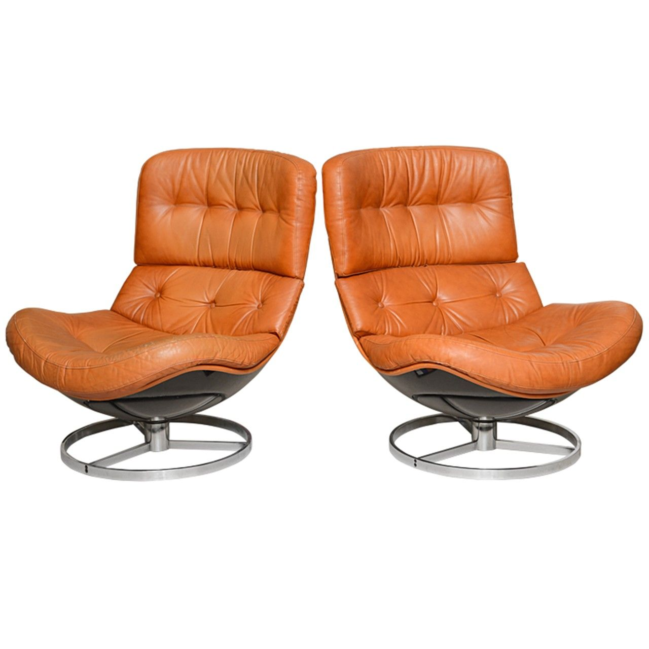 Admirable Pair Of Unusual Milo Baughman Swivel Chairs For The Home Creativecarmelina Interior Chair Design Creativecarmelinacom