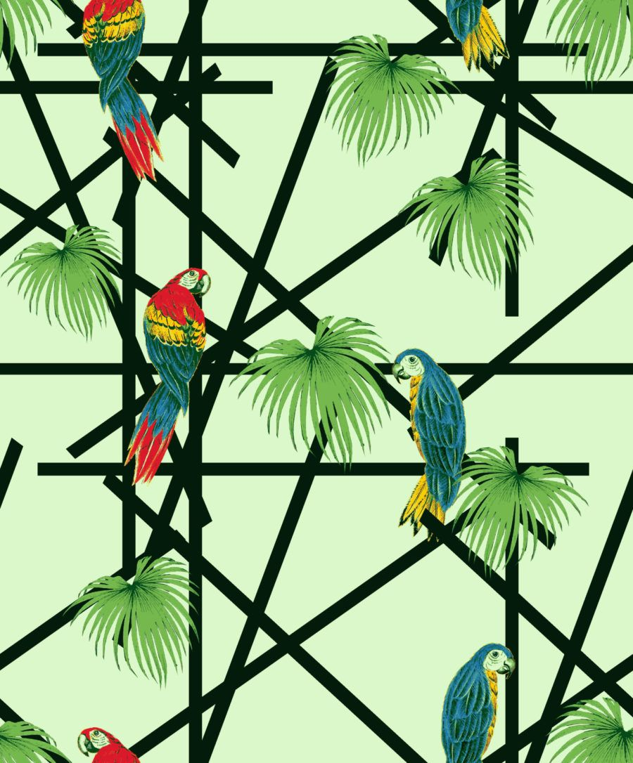 "Grafica di Roberta Russo: ""Tropical parrots"" #pattern #thecolorsoup #abstract #texture #colors #design #style #parrots"