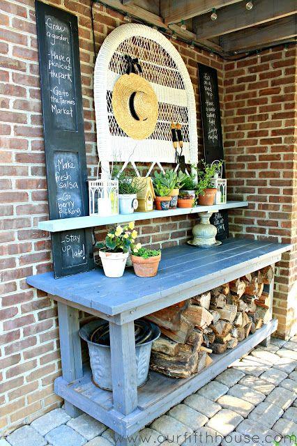 2013 Summer List Potting Bench Outdoor Buffet Outdoor