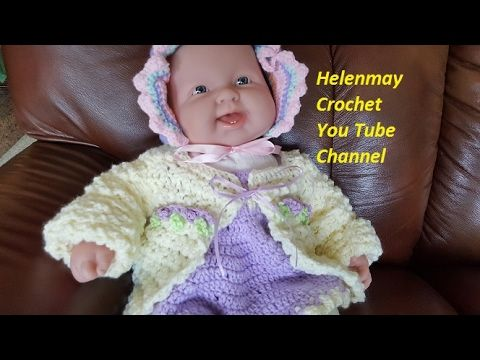Crochet Quick and Easy Baby Sweater DIY Video Tutorial - YouTube ...