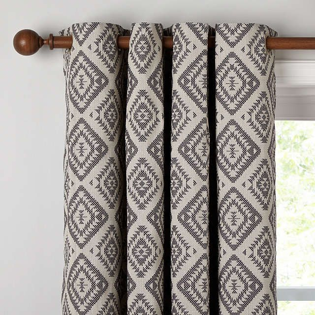 John Lewis Native Weave Lined Eyelet Curtains