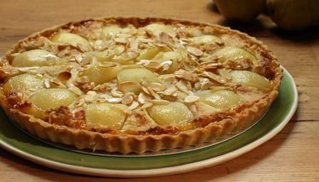 Pear and apricot frangipane tart recipe from Paul Hollywood - a great idea for a family treat