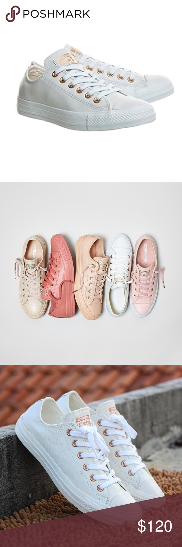 c457767118852f Converse Leather Powder Blue Rose Gold Exclusive These are exclusives that  only sold in UK and are sold out already. I ordered them online and just  received ...