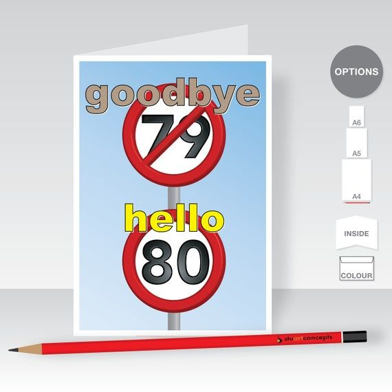 Funny 80th Happy Birthday Card For Him For Her 80 Birthday
