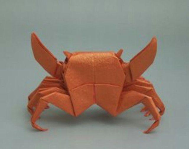 Crab Origamiorigami Crab Diagramorigami Crab Instructionsorigami