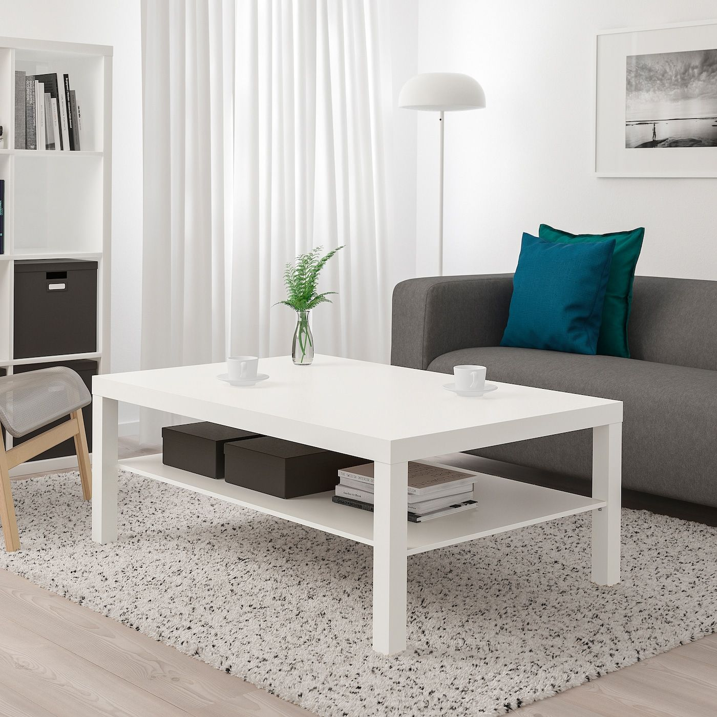 """LACK Coffee table, white, 46 1/2x30 3/4"""" IKEA in 2020"""