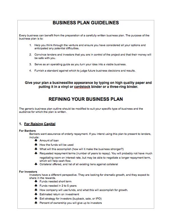 Food Truck Business Plan Business Plan Template Free Business Plan Pdf Food Truck Business Plan