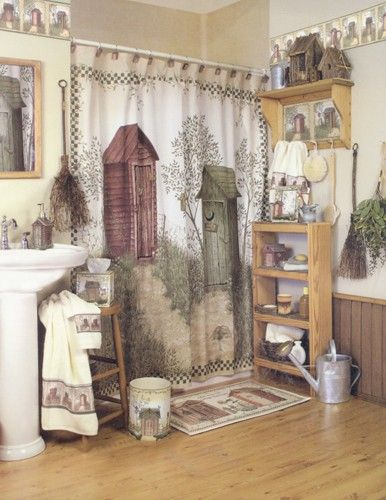 Curtain & Bath Outlet - Out Houses Fabric Shower Curtain Het is erg ...