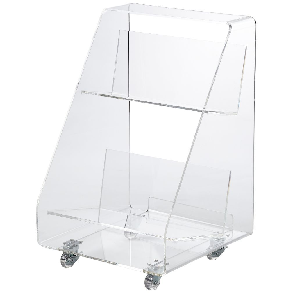 Acrylic Book Cart Reviews Crate And Barrel In 2019 Acrylic