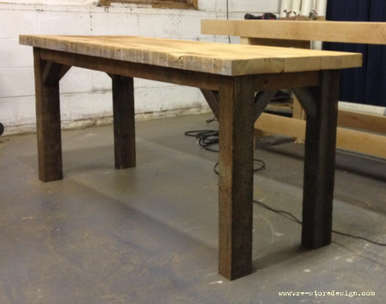 Farm table with 45 degree angle supports do it yourself home farm table with 45 degree angle supports do it yourself home projects from ana white solutioingenieria Image collections