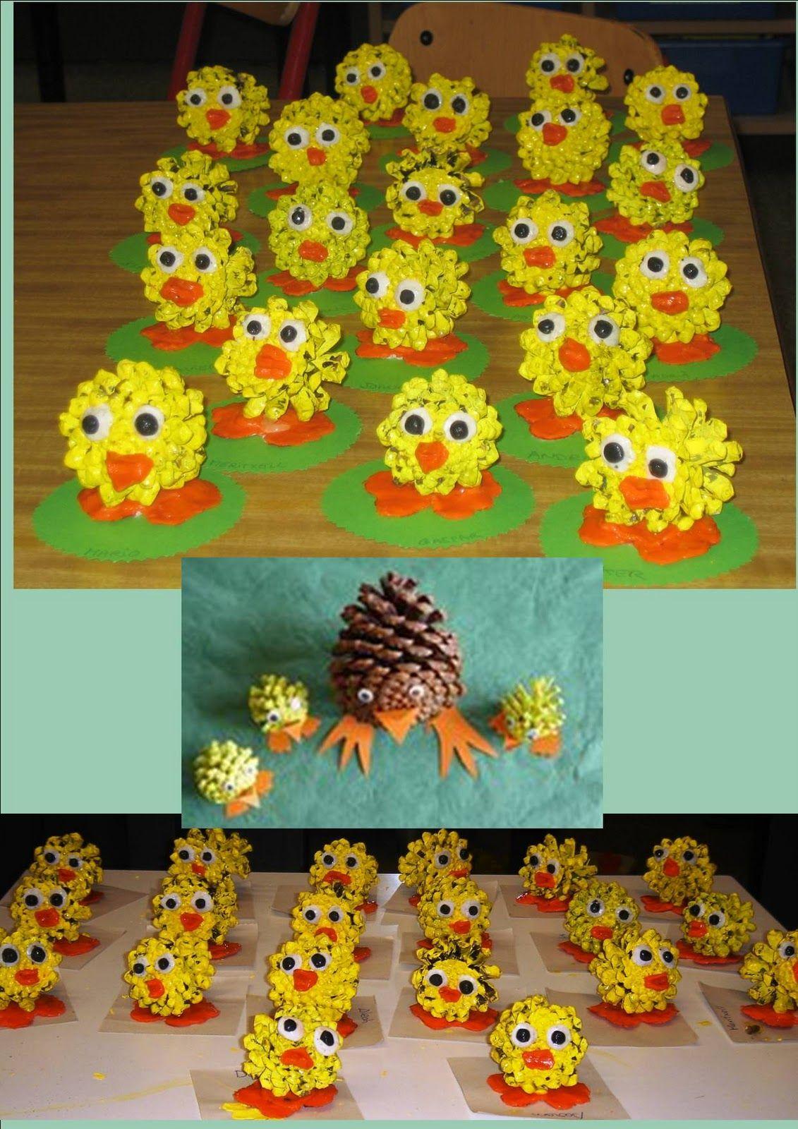 Pollets De Pasqua Fets Amb Pinyes