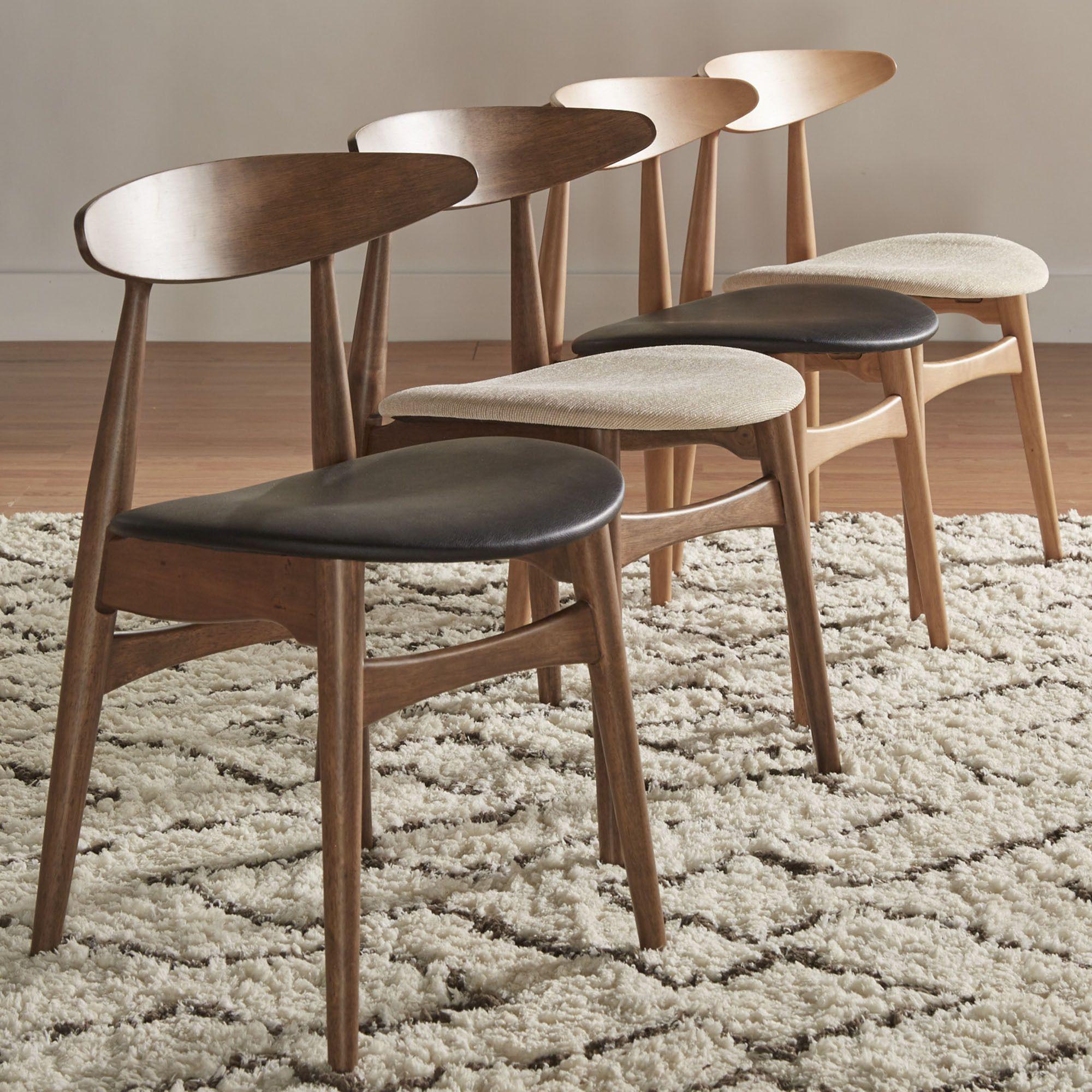 mid-century living norwegian danish modern tapered dining chairs