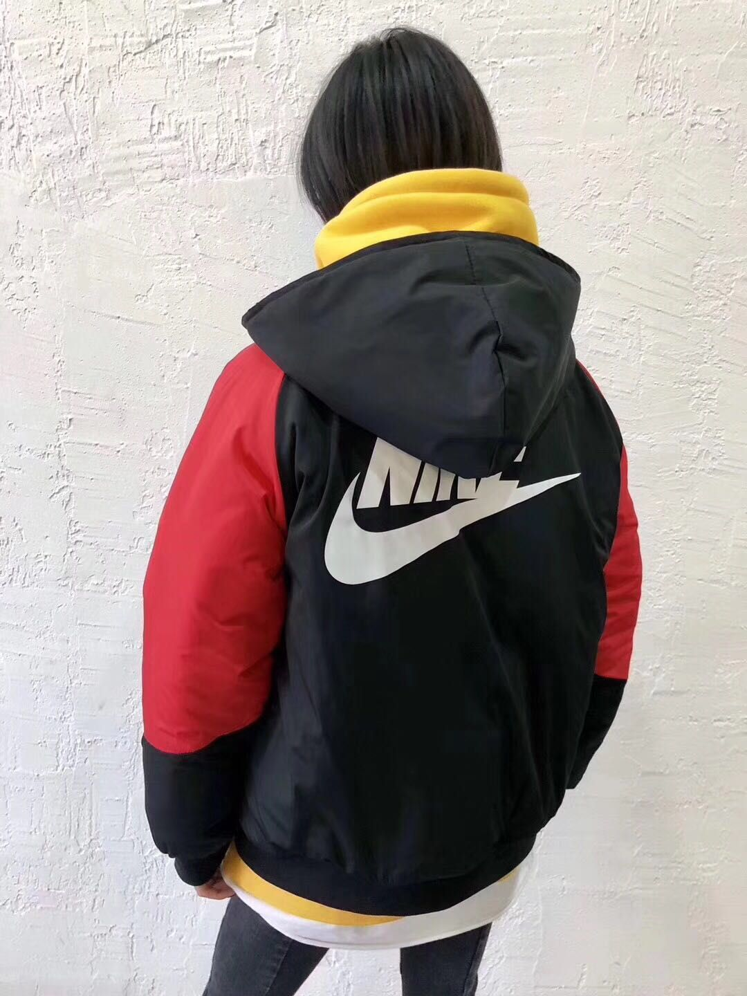 42a1d0547dd7 KITH NIKE SHERPA SIDELINE PADDED COAT BLACK RED