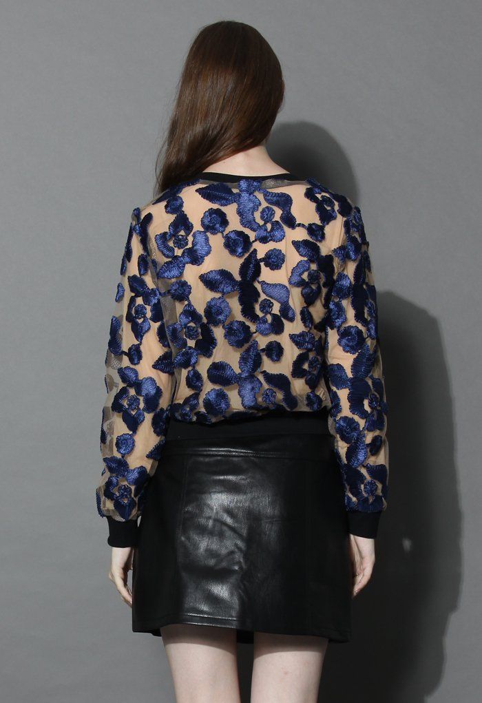 Rose Embossed Mesh Top - New Arrivals - Retro, Indie and Unique Fashion