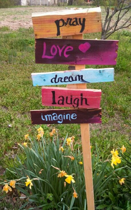 Pray love laugh dream imagine signs for the backyard outdoors garden pray love laugh dream imagine signs for the backyard outdoors garden do it yourself wooden signs solutioingenieria Choice Image